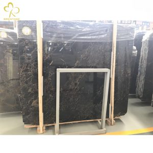 Chinese marble fabricators black and gold marble wall and floor tiles